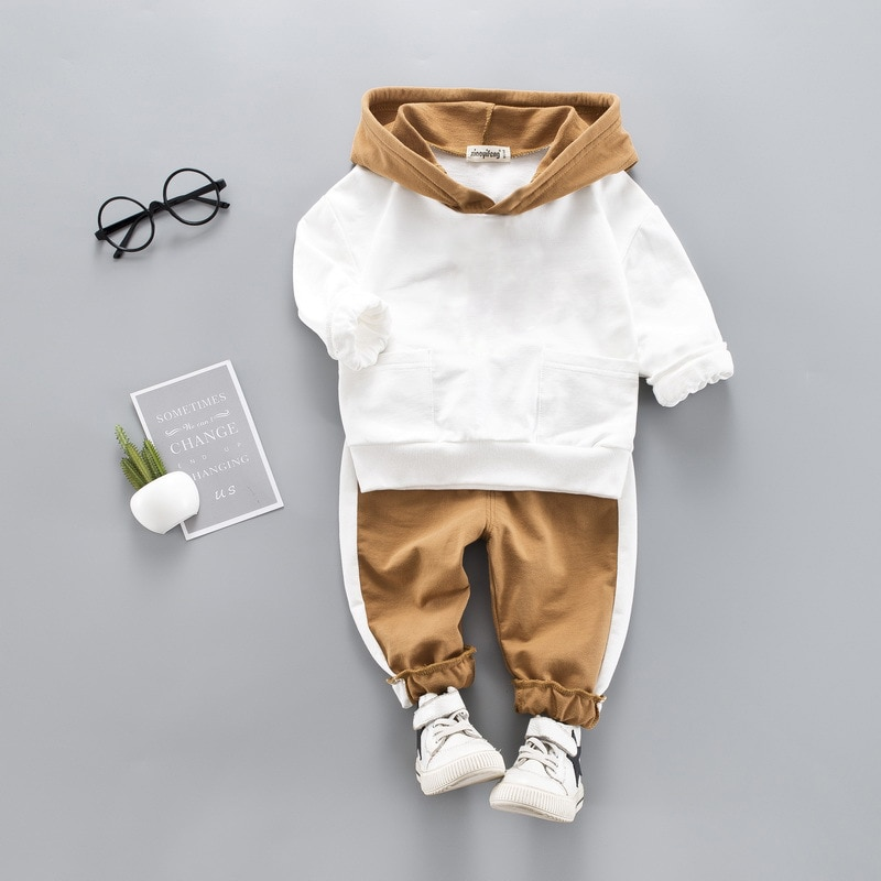 LZH Infant Clothing Sets Baby Suit 2021 Autumn Spring Clothes For Newborn Baby Boys Clothes Hoodie+P