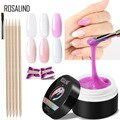 ROSALIND Builder Gel For Extension Set 4PCS Gel Nail Art Tips French For manicure Pink White Clear Poly Nail Tool Kit Sets