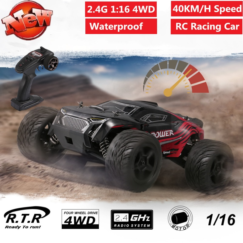 2.4G 1:16  4WD Remote Control Truck Car 40KM/H High Speed RC Racing Car Toy Off-Road Buggy Drift Car Vehicle Waterproof  gifts