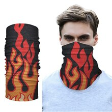 Camouflage Fire Magic Scarf Cycling Seamless Balaclava Head Scarves Headband Neck Face Warmer Motorcycle Bandanas