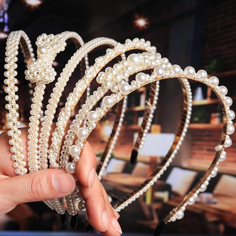 AliExpress - 2021 New Luxury Big Pearl Hairbands Women Bow Sunflower  Hair Hoops Girls Hair Accessories Fashion Jewelry Headband