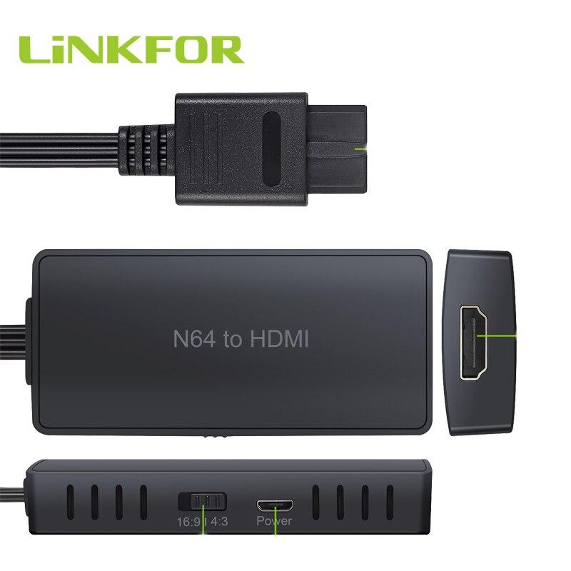 LiNKFOR-محول N64 إلى HDMI ، يدعم التوصيل والتشغيل ، كابل SNES إلى HDMI 1080P/720P ، GameCube إلى HDMI HD Link