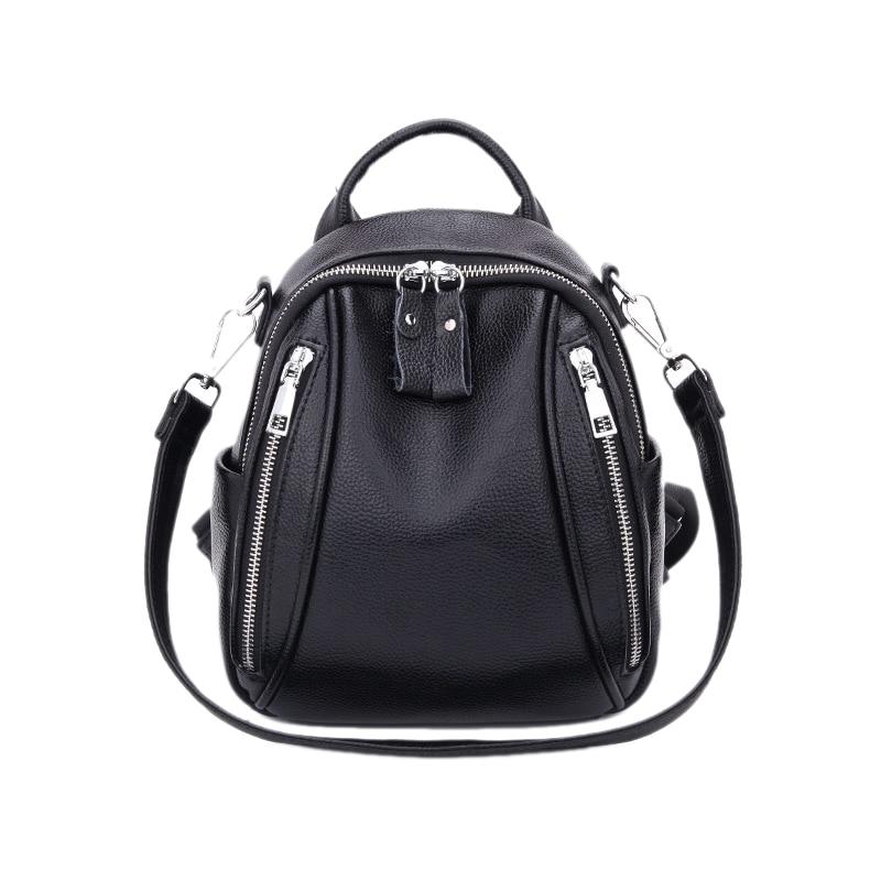 Mulher mini mochila de couro anti roubo preto pequeno bolsa de ombro de couro feminino mochila de viagem menina mochila