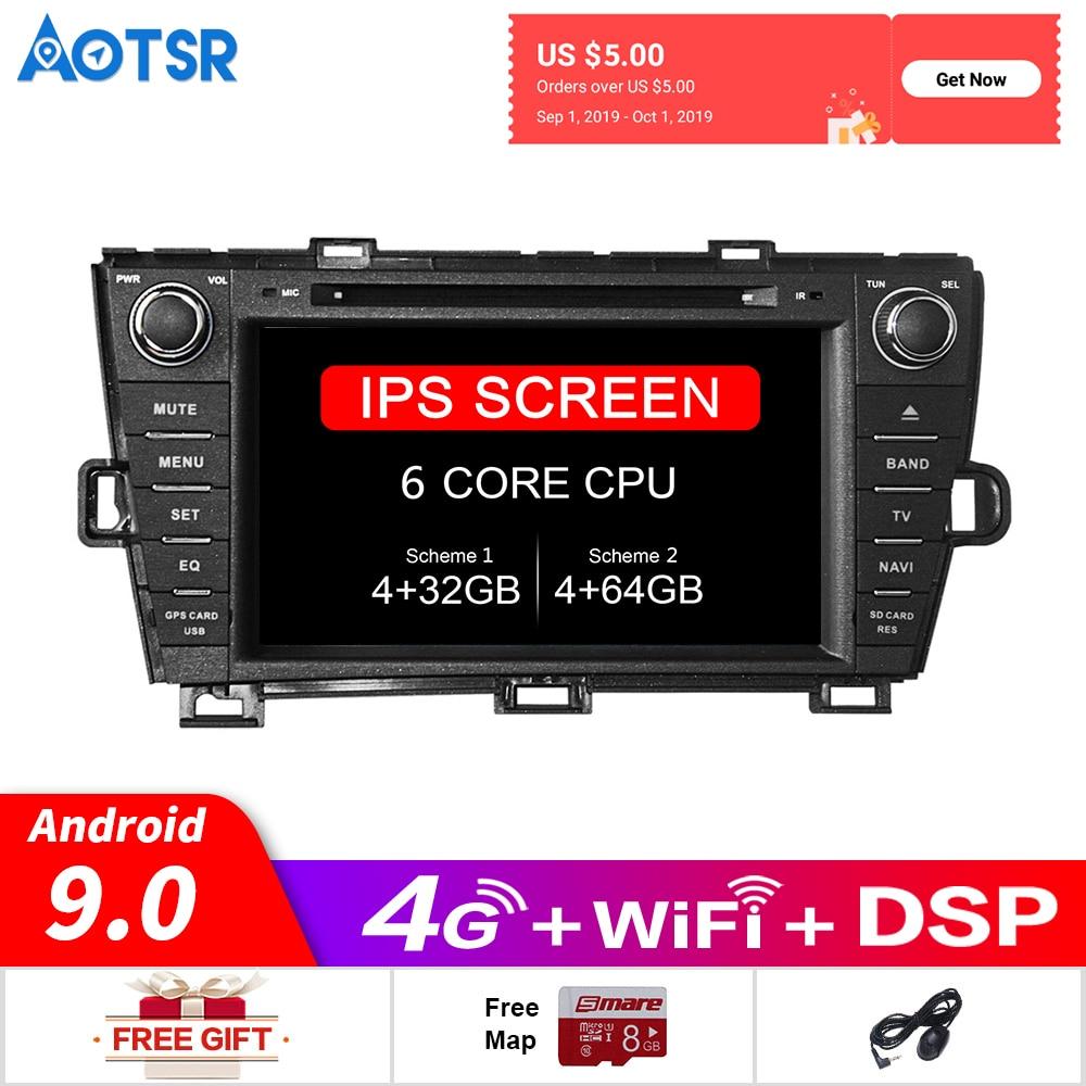 Reproductor de DVD para coche Android 9,0 navegación GPS para Toyota Prius RHD 2009-2013 Radio Estéreo derecha reproductor del grabador Multimedia