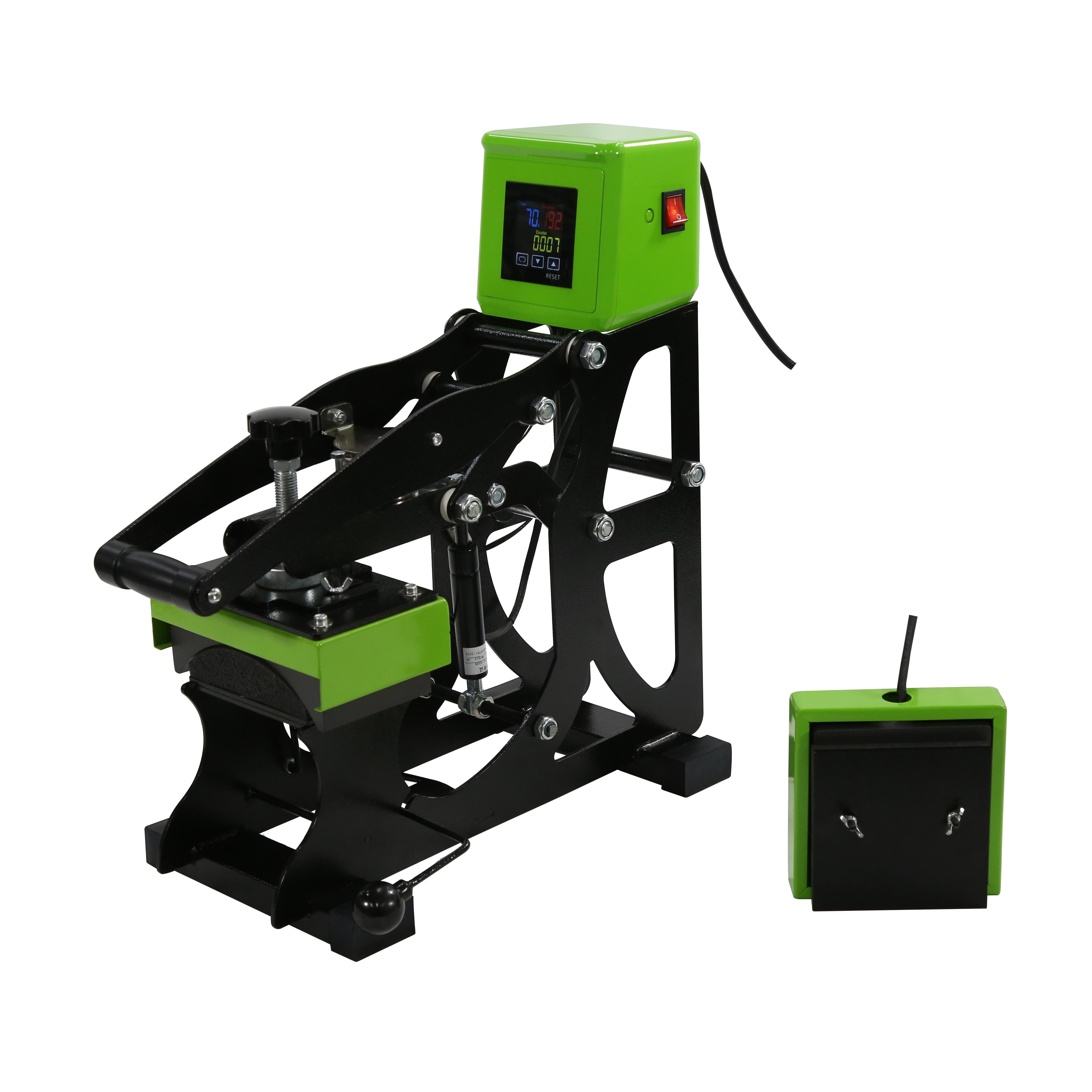New color 2IN1 Semi auto T-shirt and Cap Heat Press Printing Machine Flat heat transfer size 12x12cm NO.AH1701