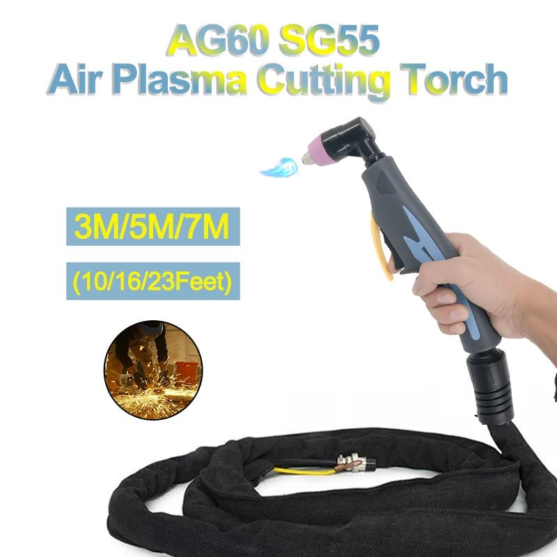AG60/SG55 Air Pilot Arc Torch Plasma Cutter Cutting Torch 3/5/7M Plasma Cutter Machine Cutting Torch