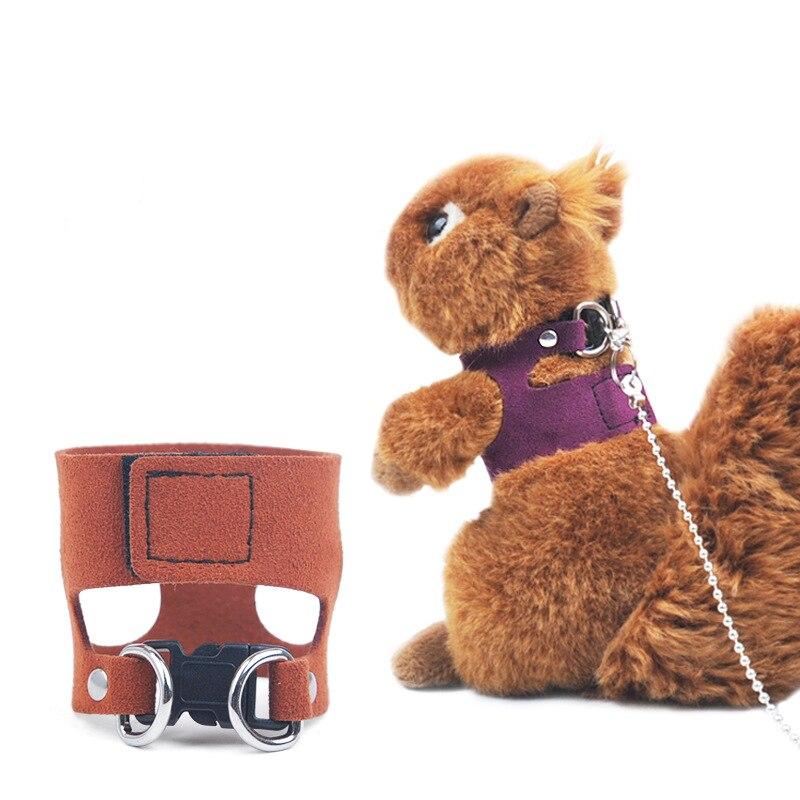 1 Pza 170cm de algodón pequeño Pet cinta de Velcro literas ardilla conejillo de indias visón al aire libre arnés de cuerda de tracción cinturón