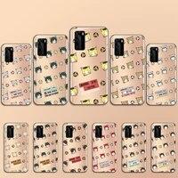cartoon haikyuu volleyball anime phone case transparent for huawei p 40 20 30 10 mate pro lite plus
