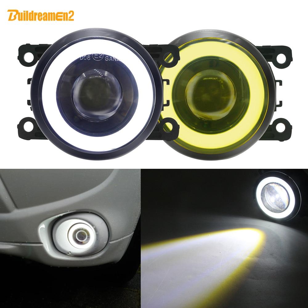 2 X Angel Eye Fog Light Car Front LED Fog Lamp DRL 12V For Subaru Forester WRX STI BRZ XV Legacy Justy Outback Impreza Levorg