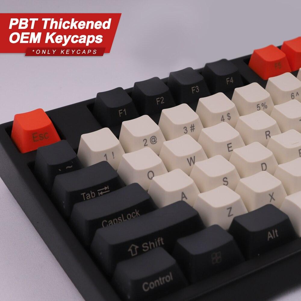 أزرار الكربون للوحة المفاتيح الميكانيكية PBT OEM الشخصي الارتفاع 108 مفاتيح ل 60% 68% 80% 104 GK61 SK61 آن برو 2 قطعة لعبة