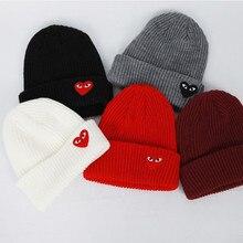 Chapeau crocheté pour homme   Hiver 2019, avec yeux de cœur et de dessin animé, Bonnet en tricot, Toucas, Bonnet avec Bonnet