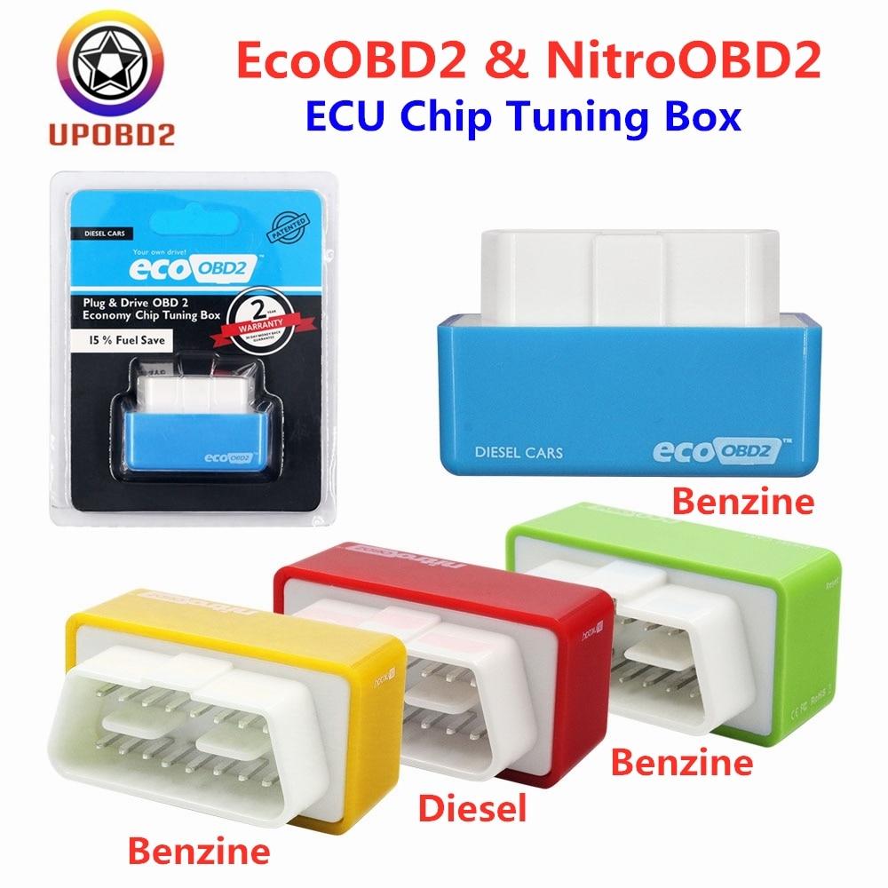 2020 15% Fuel Save Nitro obd 2 Ecoobd2 ECU Chip Tuning Box More Power For Benzine Gasoline Petrol Diesel Cars Eco obd2 Nitroobd2
