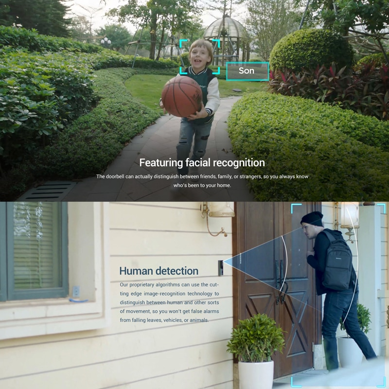360 Botslab Smart Home Video Doorbell X3 Wireless WiFi Door Bell 5MP 1920P Camera Radar Sensor HDR Night Vision Work with Alexa enlarge