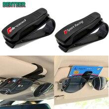 ABS Portable Car Glasses Cases Ticket Card Clamp Car Sun Visor Sunglasses Holder for AUDI Car stylin
