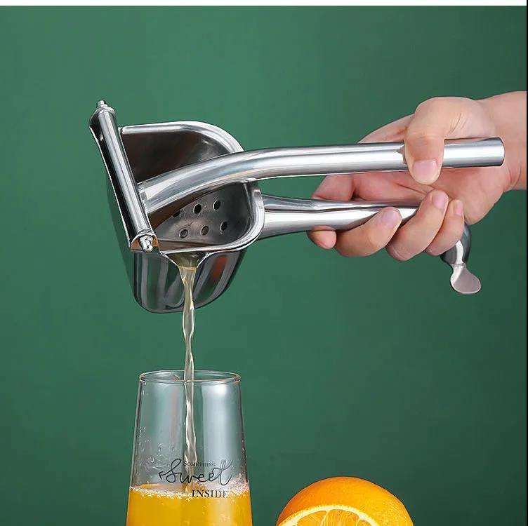 الفولاذ المقاوم للصدأ عصارة يدوية متعددة الوظائف المنزلية الرمان البرتقال الليمون عصارة الفواكه عصارة يدوية المطبخ الفاكهة أداة