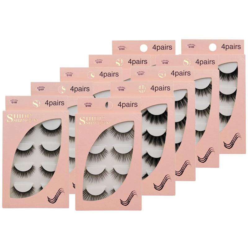 Норковые ресницы 3/4 пар, натуральные пушистые объемные норковые ресницы, ресницы для макияжа