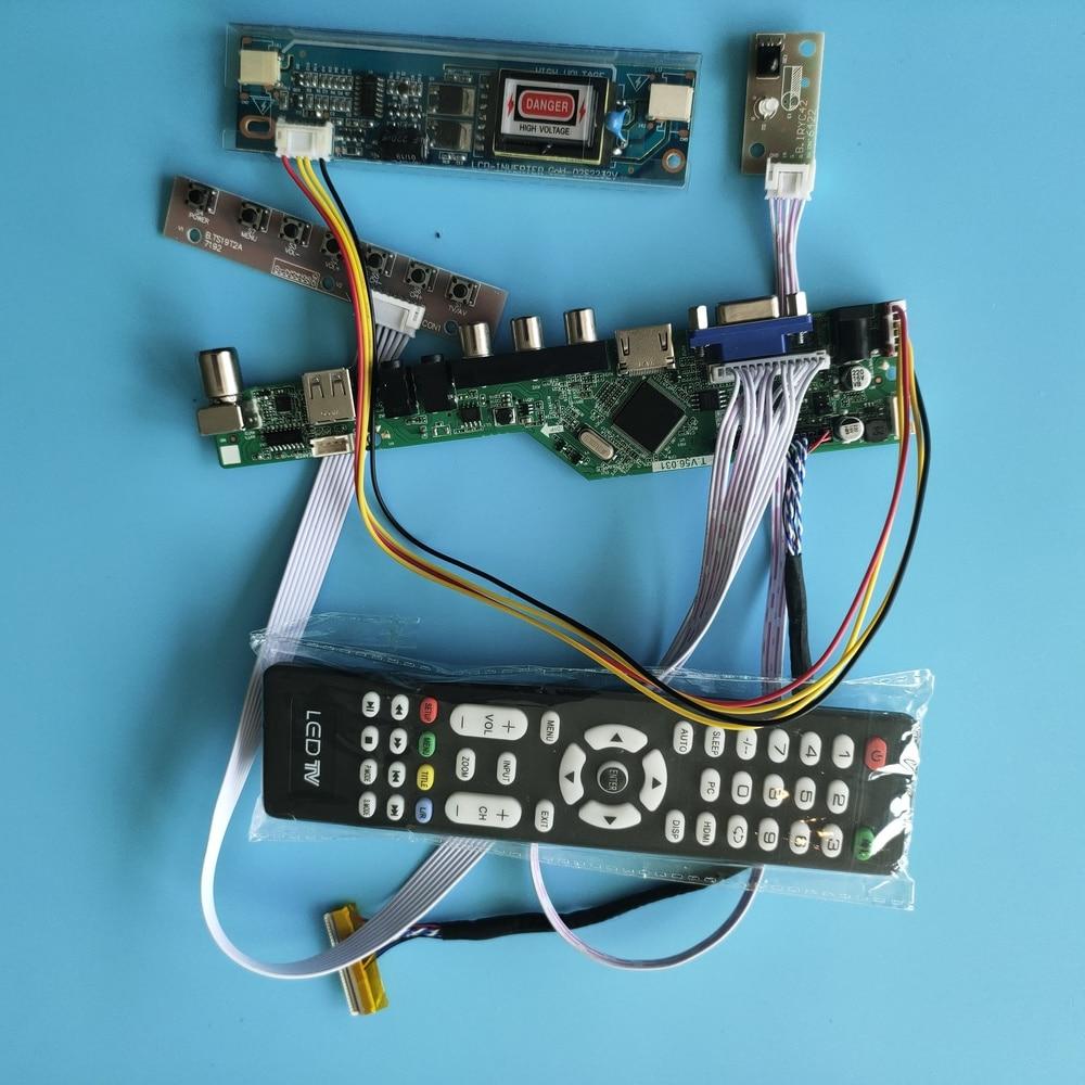 عدة ل LTN184HT03-001/LTN184HT01-A01/A02/F01 1920x1080 تحكم مجلس VGA AV LVDS HDMI USB شاشة LED 2 مصابيح الصوت شاشة تلفزيون مسطحة