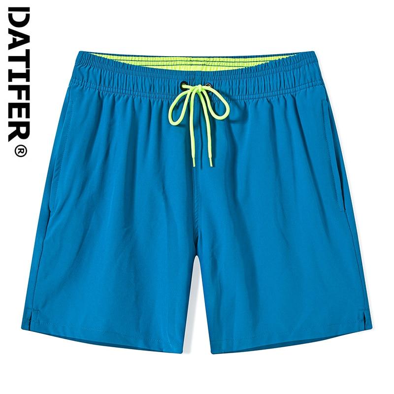 Datifer Breathable Quick Dry Men Beach Shorts Casual Bermudas Boardshorts Homme Classic Brand Clothing Beach Swear Male