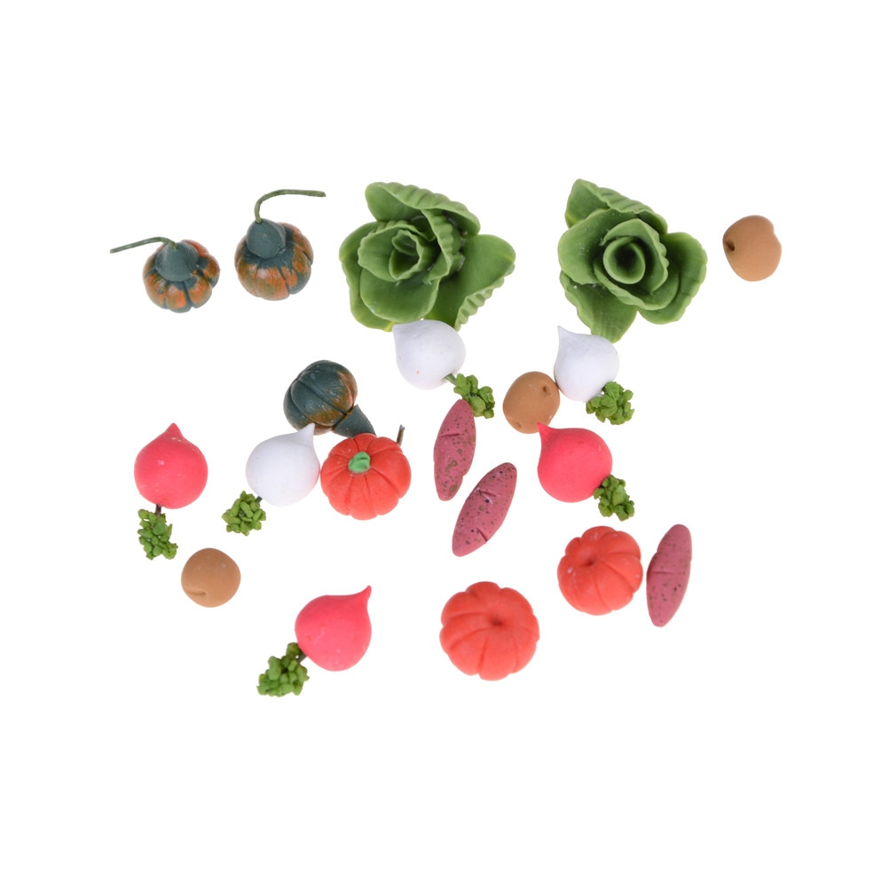 20PCS/SE Kitchen Fruit Vegetables FoodT Simulation Toys Cutting Set Kids Pretend Role Play Girl Birthday Gift