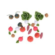 20PCS/SE Kitchen Fruit Vegetables FoodT Simulation Toys Cutting Set Kids Pretend Role Play Girl Birt
