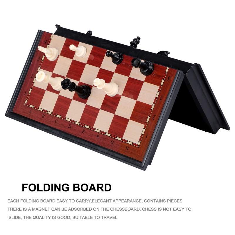 Top Quality  Folding Magnetic Chess Set Solid Wood Chessboard Pieces Entertainment Board Games Children Gifts