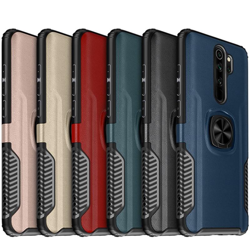 Rüstung Auto Halter Magnet Ring Telefon Fall PC + Silikon Abdeckung Auf Für Xiaomi Redmi Hinweis 8 Pro Note8 8Pro globale 4/6/8 64/128 GB Xiomi