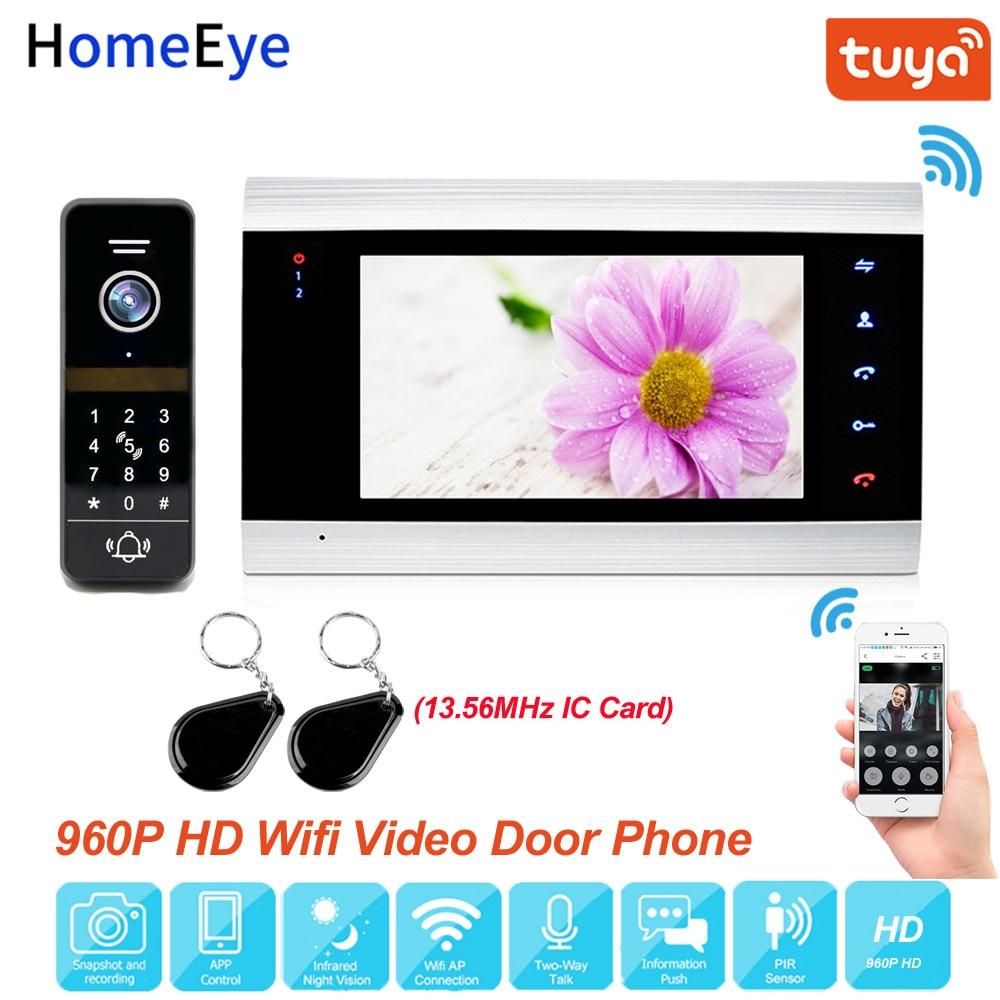 Приложение Tuya дистанционного Управление Wi-Fi IP видео-телефон двери видео домофон 960P проектор для домашнего Система контроля доступа Управле...