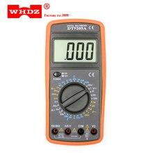 Whdz dt9205a básico multímetro digital capacitância hfe teste amperímetro voltímetro resistência tester ac dc lcd elétrico handheld