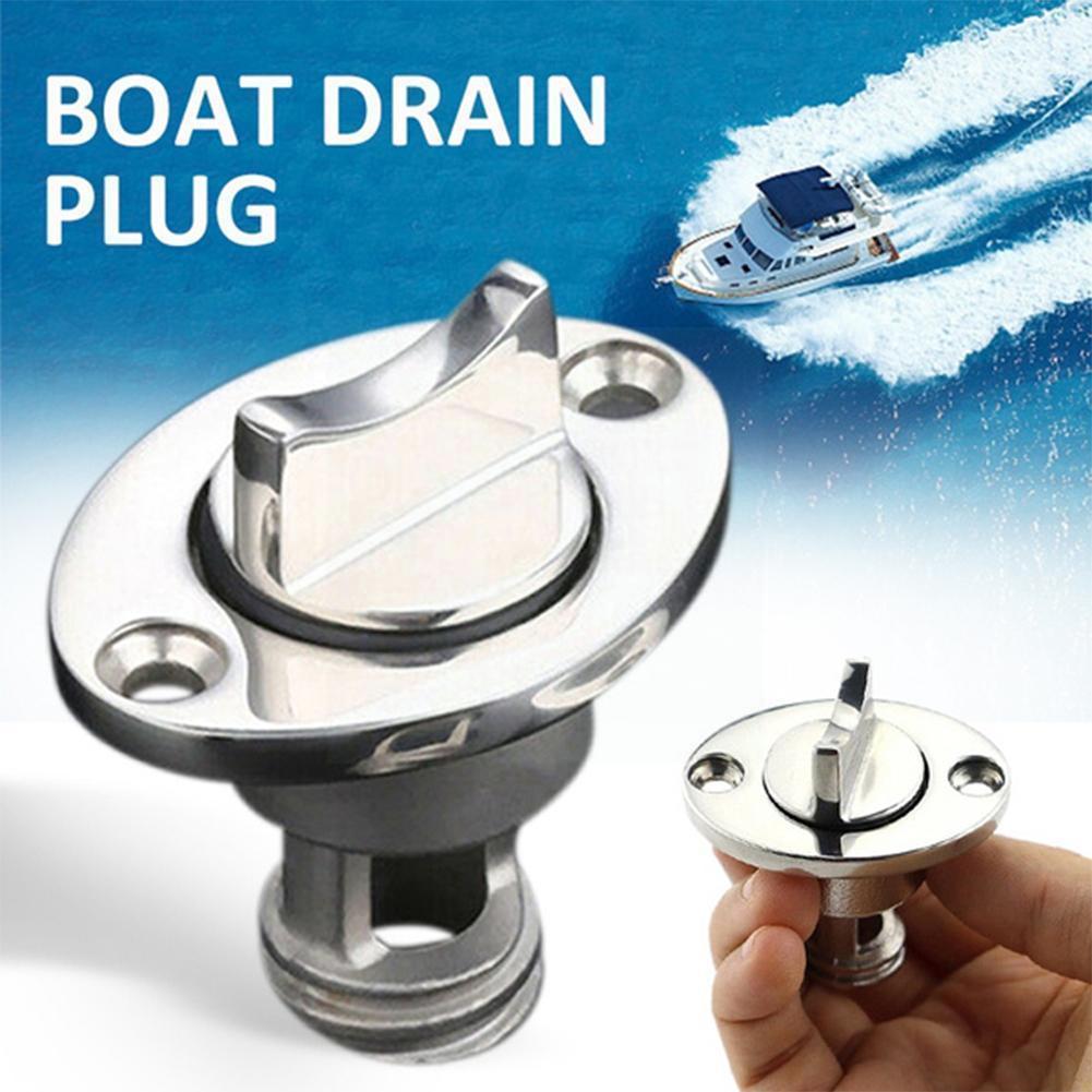 Oval Garboard Drain Plug Marine Steel Drain Plug Fits 1 Inch Drain with Transoms Screws Hole Hot Plug Boat H2Z2