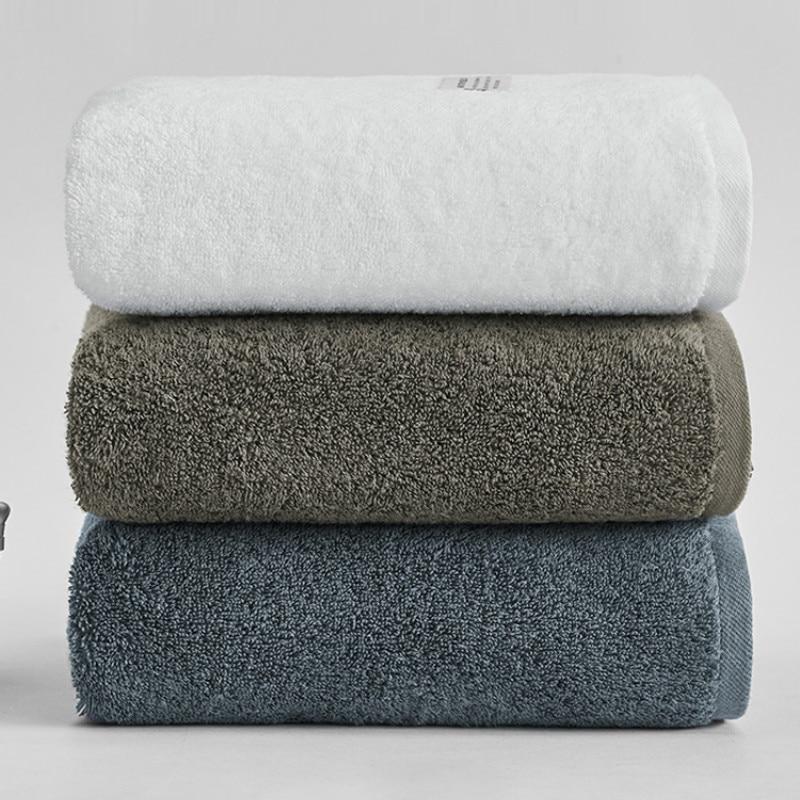 Мягкое банное полотенце для взрослых, хлопковое толстое супер впитывающее Большое банное полотенце, быстросохнущее полотенце для ванной к...