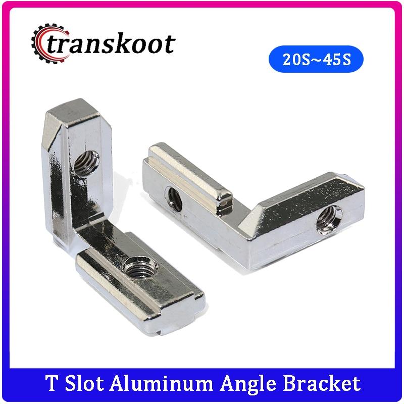 50pcs 20pc 10pcs T Slot Aluminum Angle Bracket Interior Joint Bracket fro Aluminum Extrusion Profile 2020/3030/4040/4545 Series