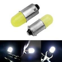 LEEPEE 1Pcs Marker Bulb White 3D COB LED Super Bright Round 12V BA9S T4W 363 1895 233 Auto Interior Lamp Car License Plate Light