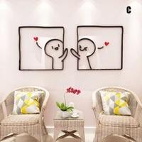 diy acrylic 3d art wall sticker bed room home decor self adhesive washable lb88