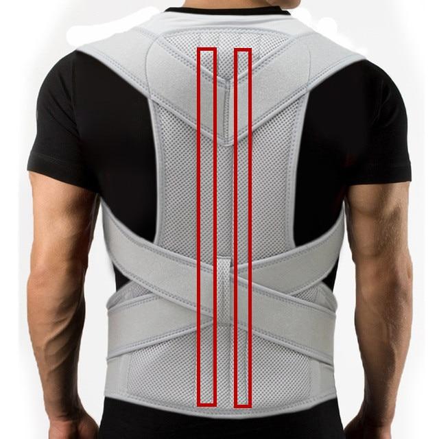 AliExpress - Silver Black Adjustable Back Posture Corrector Brace Support Belt Spine Shoulder Lumbar Posture Correction Women And Men XXL