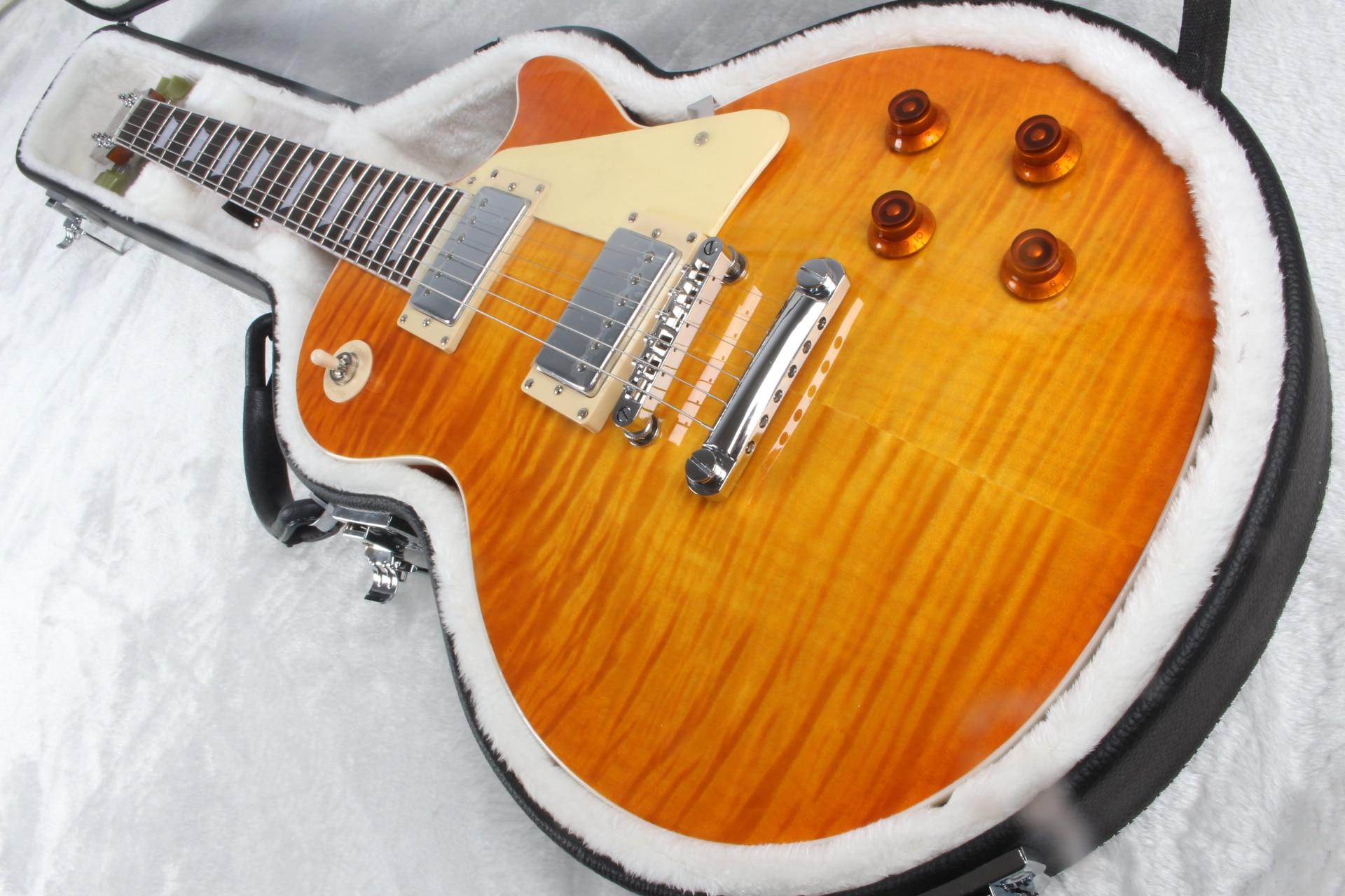 honey burst guitar six-string electric guitar plated hardware, factory customization