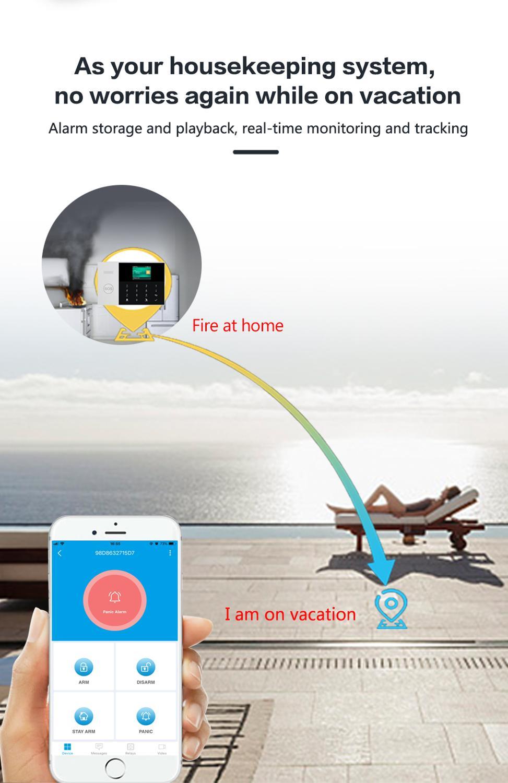 PGST PG105 4G & 3G Tuya Alarm System PIR Wireless Siren Home Burglar Security Alarm Smart Home Kit SmartLife App Remote Control enlarge