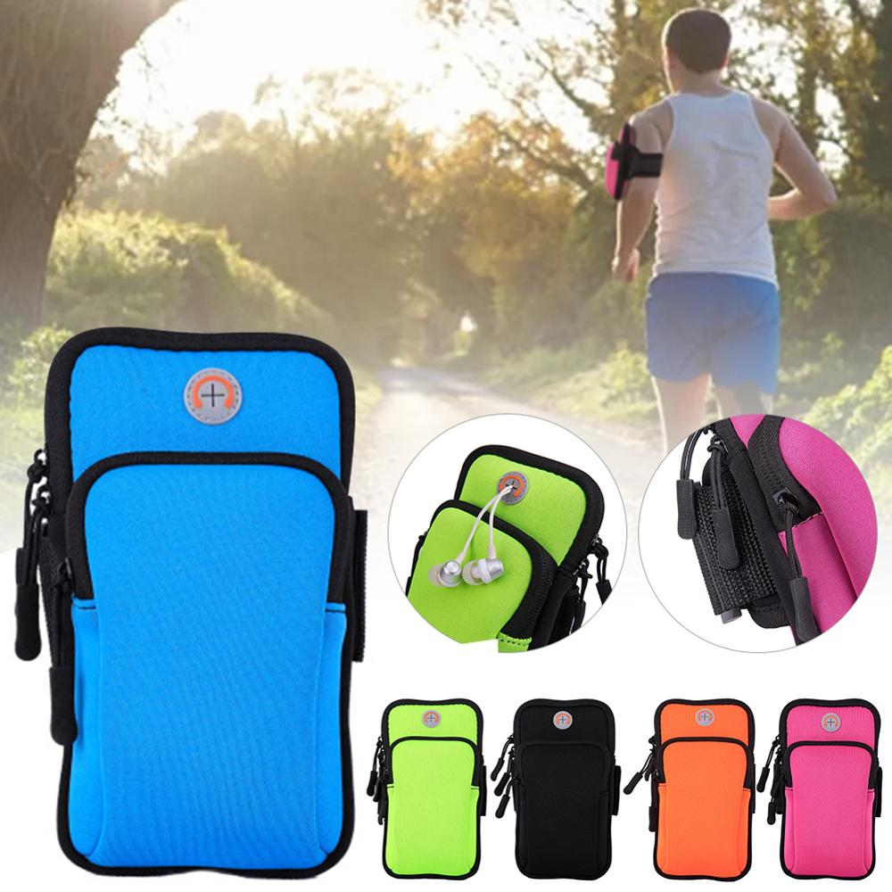 6 inch sports jogging gym armband running bag arm wrist band hand mobile phone case holder bag outdoor waterproof nylon hand bag Universal Waterproof Sport Armband Bag Running Jogging Gym Arm Band Mobile Phone Bag Case Cover Holder for iPhone Samsung