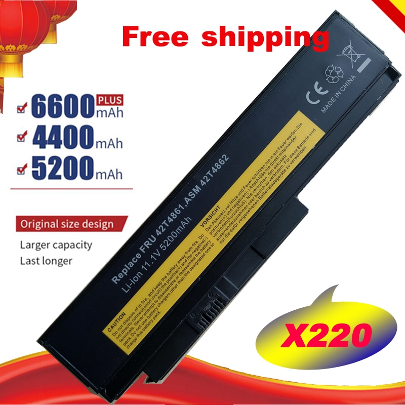 Nuevo X220s batería del ordenador portátil para LENOVO ThinkPad X220 X220I X220S 45N1023 45N1022 45N1019 42T4901 0A36307 45N1029