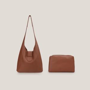 Vintage Women Hobo Handbags Large Capacity Bucket Design Shoulder Bags  Casual Leather Shopping Work Travel Bag 2 PC Set