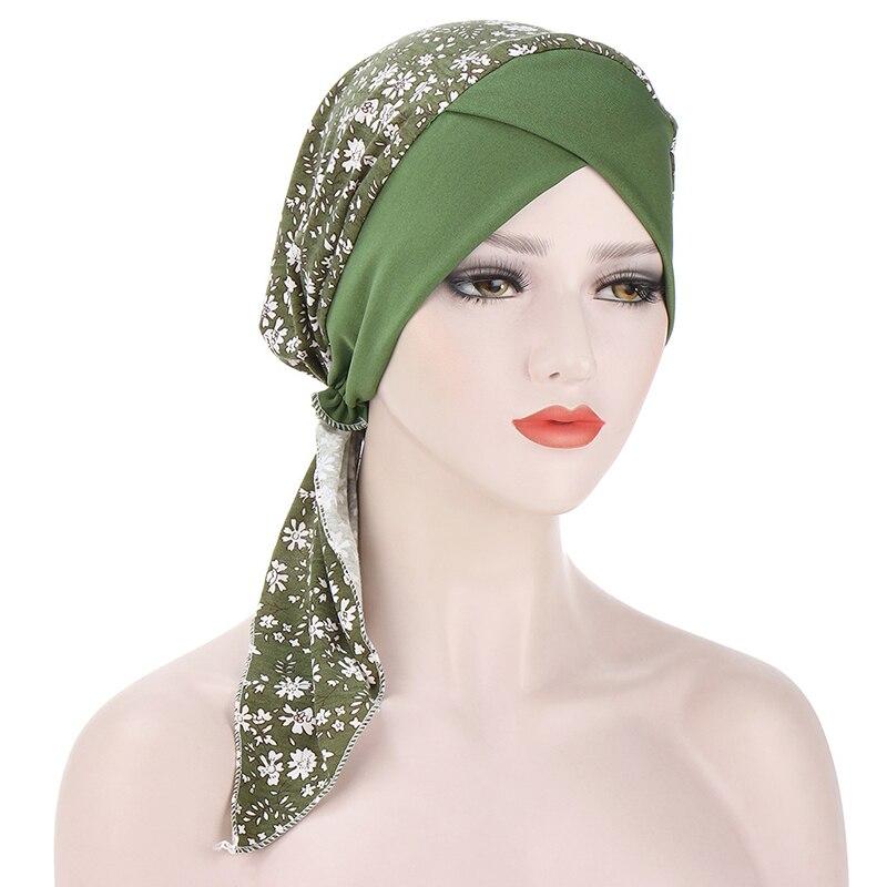 Мусульманская Кепка Baotou s, Цветочная тканевая Кепка s, пуловер, Кепка с принтом, разноцветная Кепка s, Кепка с изогнутым хвостом, удобная ткане...