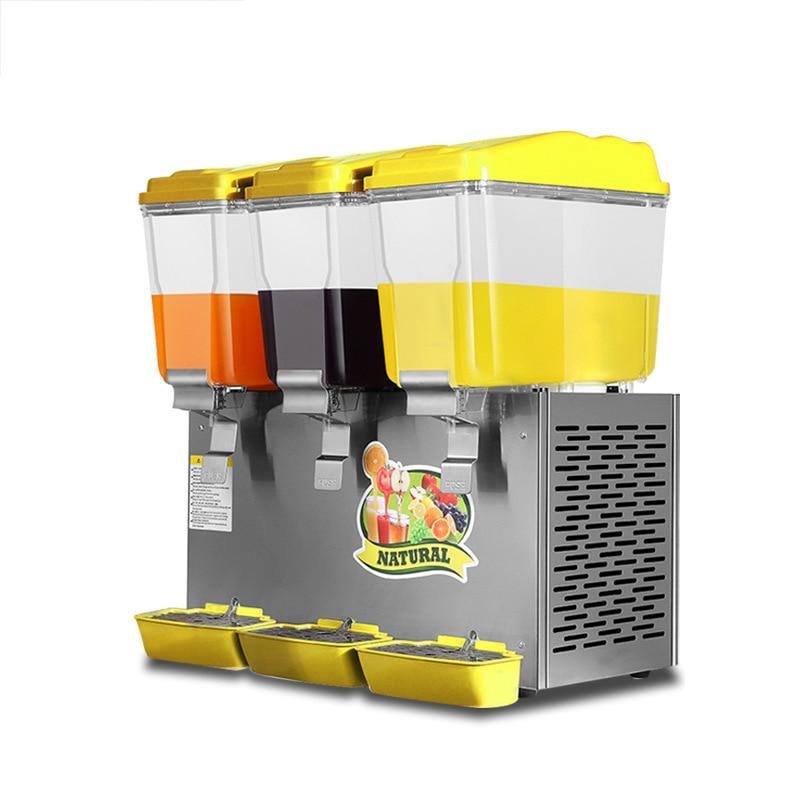 BS-338 مشروبات تجارية ماكينة شفافة ماكينة عصر مشروب بارد وساخن s اتوماتيك ماكينة مشروب بارد بثلاث اسطوانات