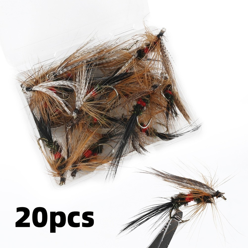 smalley fishing flies 20 Pcs Bionic Fly Hook Carbon Steel Fishing Lures Bait Fishing Box Insects Flies Fly Fishing Flies Fishing Box Needle Lure Bait