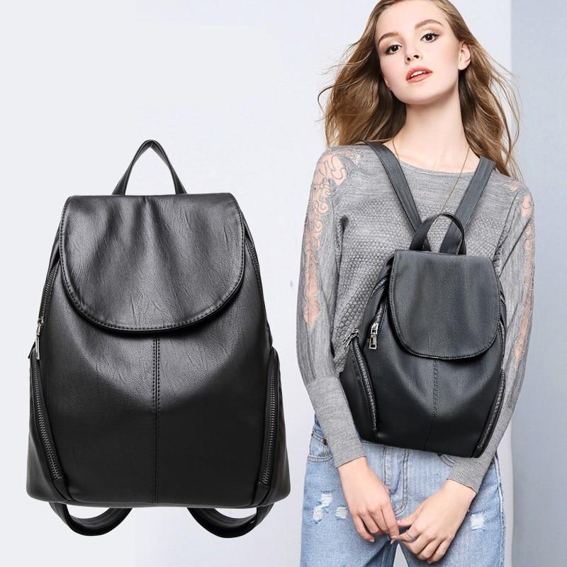 2021 рюкзаки для женщин кавайные кожаные сумки для багажа модные маленькие милые женские водонепроницаемые сумки для путешествий Школьная Д...