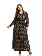 2021 Abaya longue printemps femmes dames robes grande grande taille mode élégant col en V maille ceintures Ramadan Maxi robe de soirée