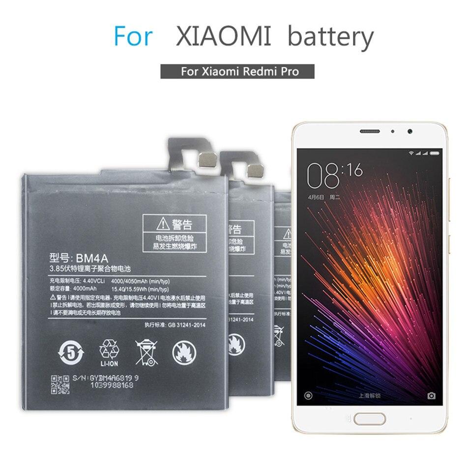 BM4A batería de teléfono móvil para Xiaomi Hongmi Redmi Pro batería de repuesto BM4A 4000mAh