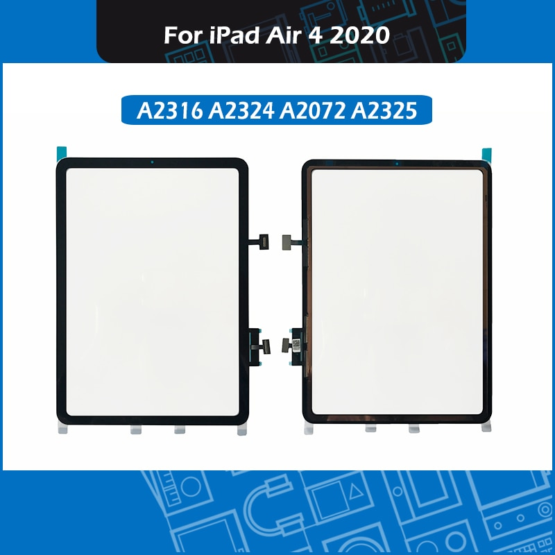 Schwarz A2316 A2324 A2072 A2325 Touch screen Panel Für iPad Air 4 Digitizer Panel Touchscreen Front Glas Ersatz 2020