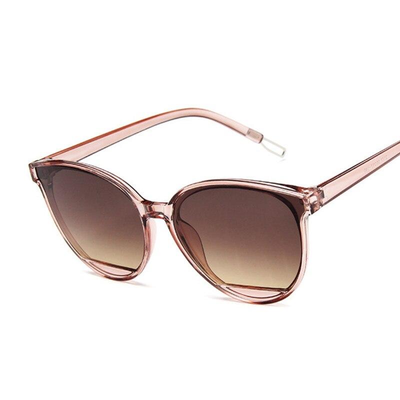 Cat Eye Sunglasses Women Vintage Fashion Sun Glasses Men Gradient Lens Black Shades Anti-reflective