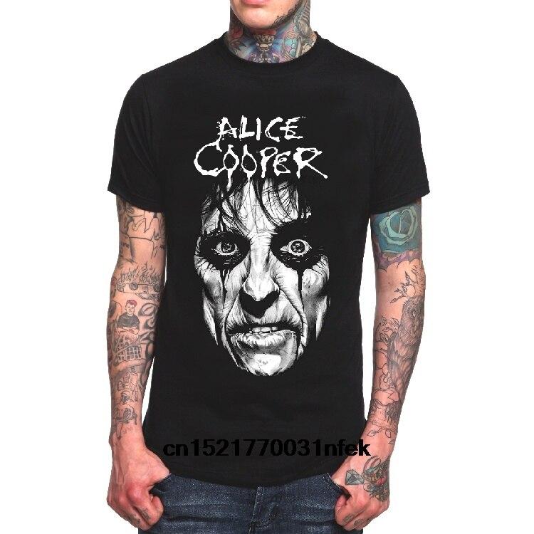 Camiseta a la moda para hombre, vestido con estampado de Alice Cooper cubo de basura Punk Rock, camisetas de verano para mujer