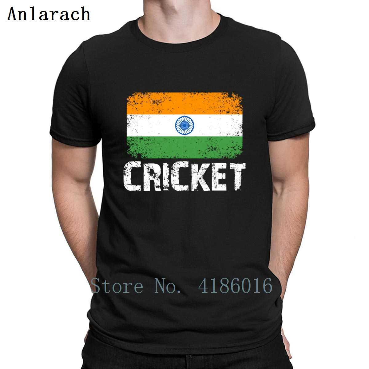 Camiseta India Cricket equipo de la India Cricket bandera de la India luz del sol primavera algodón cuello redondo ropa básica imprimir camisa Normal