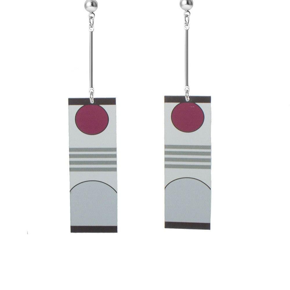 Acrylic Drop Earrings Demon Slayer Kimetsu No Yaiba Blade of Ghost Earrings for Women Men Cosplay Jewelry Accessories Gift